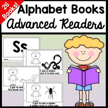 Advanced Alphabet Books | Differentiated Readers  {26 Books!}