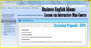 Advanced Business English Idioms Reviewing Proposals Inter