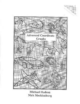 Advanced Coordinate Cartoon Graphs - Mini Book - Animals #1