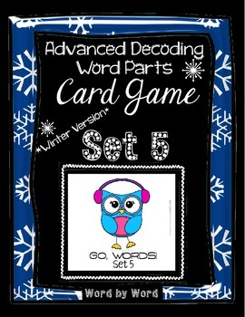 Advanced Decoding Card Game Word Parts Winter Version Set