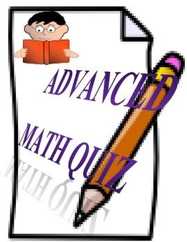 High School Math Quiz