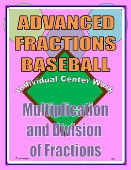 Multiplying and Dividing Fractions Individual Baseball