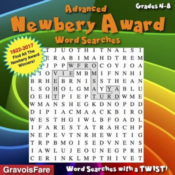 Ten Advanced Newbery Award Word Search Puzzles
