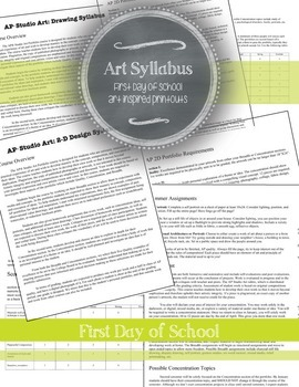 Advanced Placement (AP) 2D and Drawing Portfolio: Syllabus