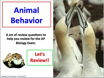 Animal Behavior Advanced Placement AP Biology Review Powerpoint