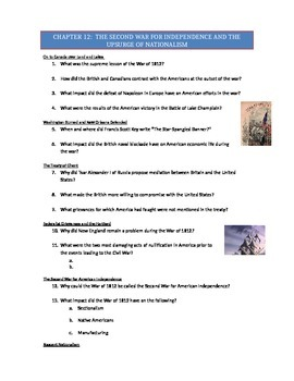 Advanced Placement U.S. History Bailey CH. 12 Study Guide