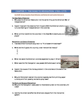 Advanced Placement U.S. History Bailey CH. 7 Study Guide Q