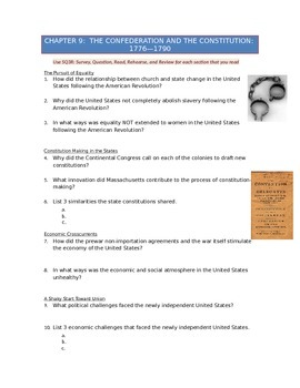 Advanced Placement U.S. History Bailey CH. 9 Study Guide Q