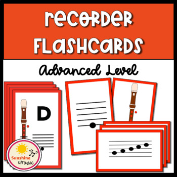 Advanced Recorder Flashcards and Fingering Chart