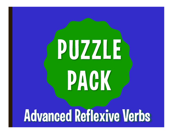 Spanish Advanced Reflexive Verb Puzzle Pack