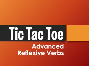 Spanish Advanced Reflexive Verb Tic Tac Toe Partner Game
