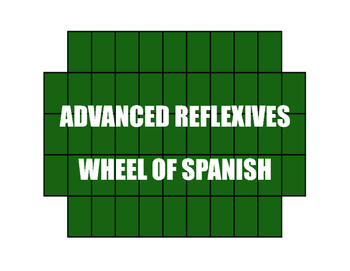 Spanish Advanced Reflexive Verb Wheel of Spanish