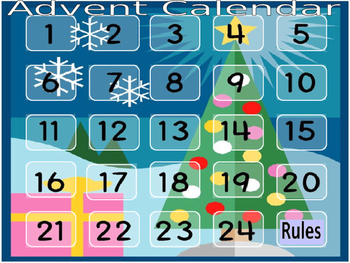 Advent Calendar Christmas Activities