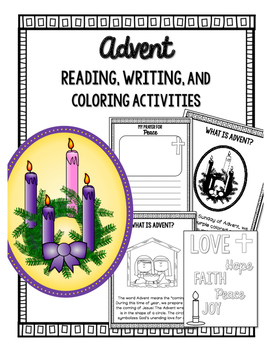 Advent Reading, Writing, Coloring Activities