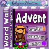 Advent Word Wall 40+ cards - Christmas, Jesus, Advent, can