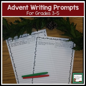 Advent Writing Prompts for Grades 3-5