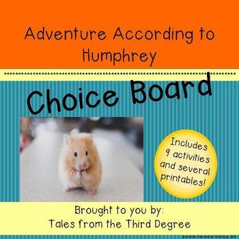 Adventure According to Humphrey Choice Board