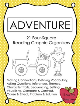Reading Graphic Organizers {21 Adventure Templates}