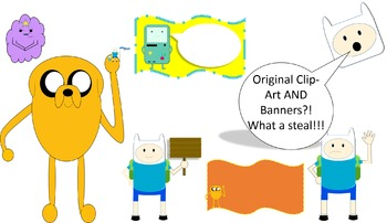 Adventure Time - Clip-Art and Classroom Banners