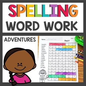 Adventures of the Superkids Spelling Pattern Word Work