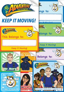 Adventure to Fitness Assorted Stickers - Big Pack (100 ct)