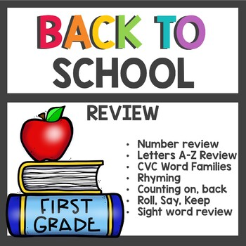 Adventures of the Superkids Back to School Review Skills