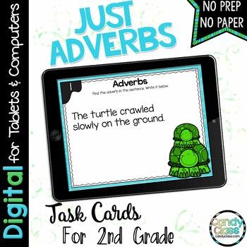 Adverb Digital Task Cards for Google Use