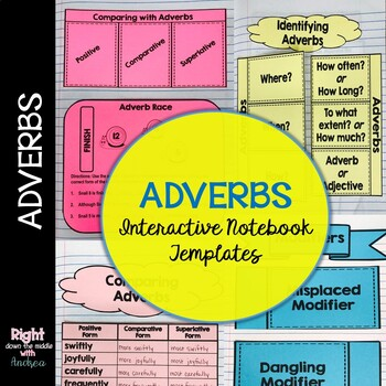Adverbs Interactive Notebook Templates