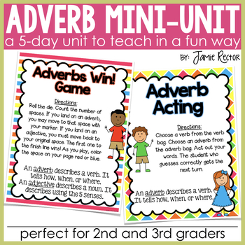 Adverb Mini-Unit - Aligned to Common Core Standards