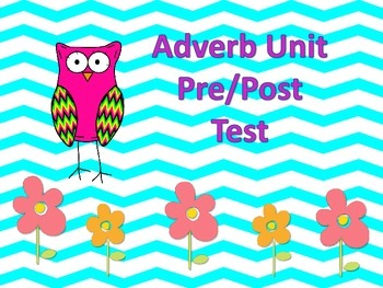Adverb Unit Pre and Post Test