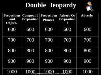 Adverb/Preposition Jeopardy 2