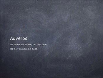 Adverb Sort for Keynote and Powerpoint