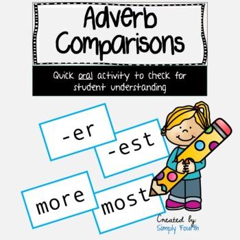 Adverb comparisons -er, -est, more and most