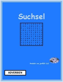 Adverbien (German Adverbs) Wordsearch