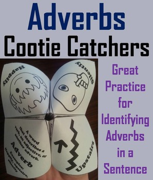 Adverbs Activity 3rd, 4th, 5th Grade Grammar Games Foldable