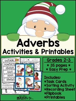 Adverbs: Activities and Printables {Christmas}