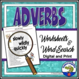 Adverbs Activity - Fun Word Search and Worksheet