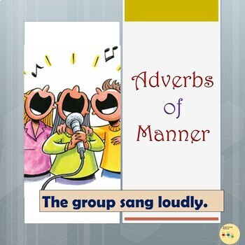 Adverbs of Manner: Color-coded Flashcards, Room Visuals, P