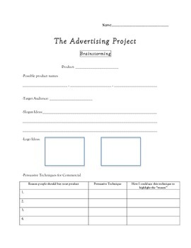 Advertising Project (Using Persuasive Techniques)