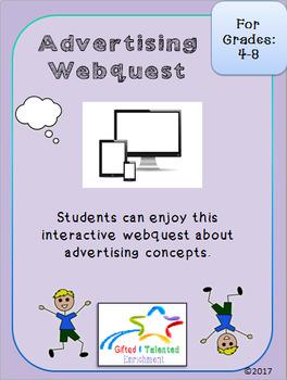 Advertising Webquest 1