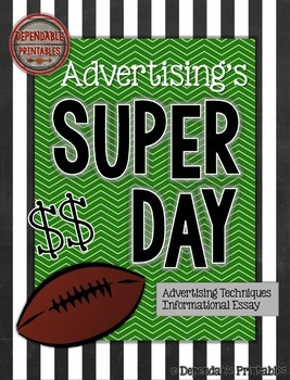 Advertising Techniques and Essay: Super Bowl