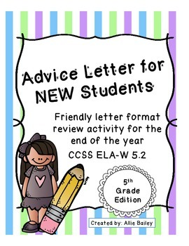 Advice Letters to NEW Students