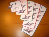 Aeroplane Counting Game PDF - 5 Colorful Numbers Numeracy
