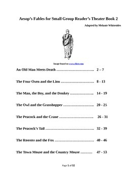 Aesop's Fables for Small Group Reader's Theater Book 2