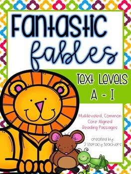 Aesop's Fables: CCSS Aligned Leveled Reading Passages and
