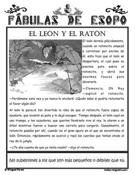 Aesop's Fables in Spanish Fábulas de Esopo