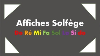 Affiches Solfège
