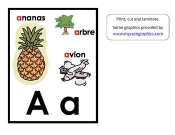 Affiches pour les sons de l'alphabet / French alphabet sou