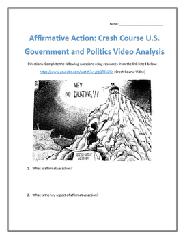 Affirmative Action: Crash Course U.S. Government and Polit