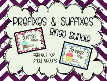 Affixes Bingo: Prefixes & Suffixes Bingo Bundle